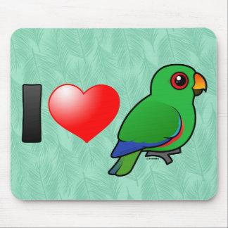 I Love Eclectus Parrots (male) Mouse Pad