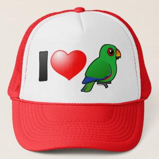 I Love Eclectus Parrots (male) Trucker Hat