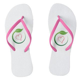 I Love Eco-Green Flip Flops