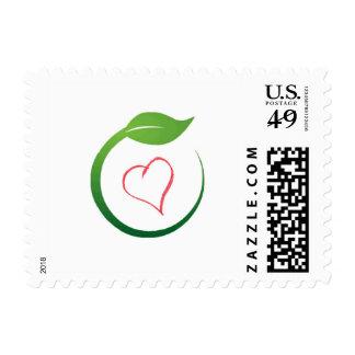 I Love Eco-Green Gel Commemorative Stamps