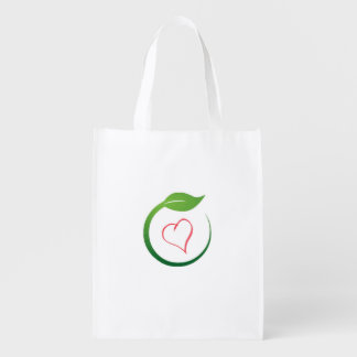 I Love Eco-Green Recycling Bages Market Tote