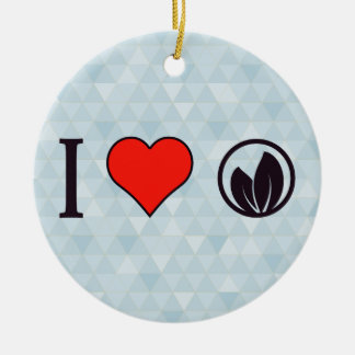 I Love Ecological Campaigns Ceramic Ornament