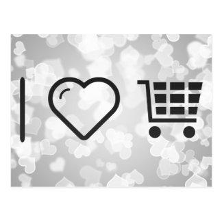 I Love Ecommerce Carts Postcard