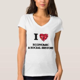 I Love Economic & Social History Tshirts