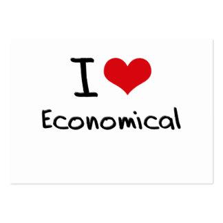 I love Economical Business Card