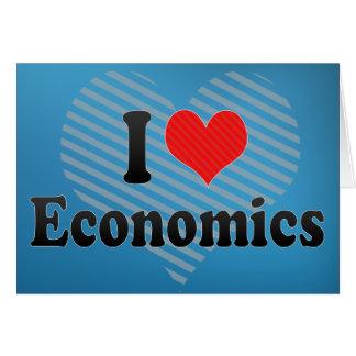 I Love Economics Greeting Cards