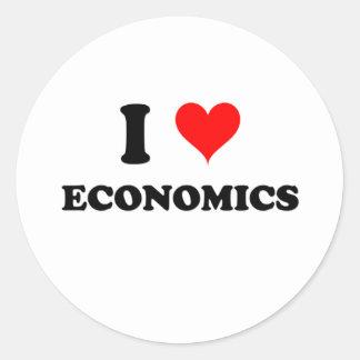I Love Economics Classic Round Sticker