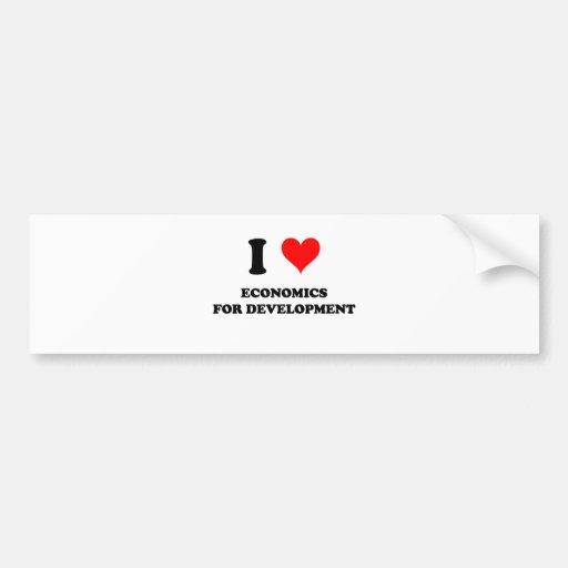 I Love Economics For Development Bumper Stickers