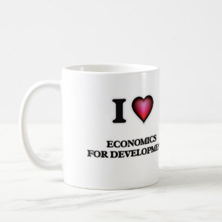 I Love Economics For Development Coffee Mug