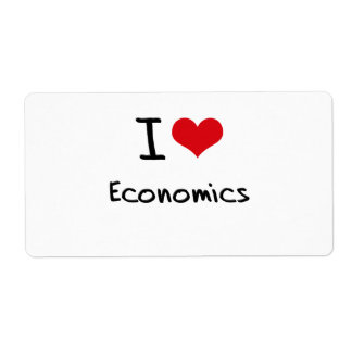I love Economics Shipping Label