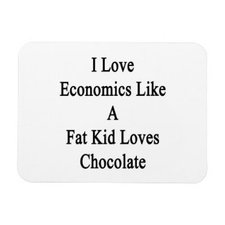 I Love Economics Like A Fat Kid Loves Chocolate Rectangular Photo Magnet