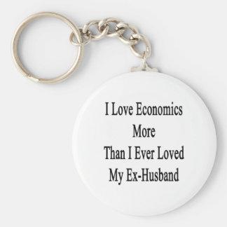I Love Economics More Than I Ever Loved My Ex Husb Keychain