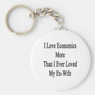 I Love Economics More Than I Ever Loved My Ex Wife Keychains