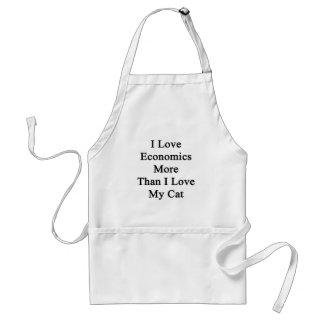 I Love Economics More Than I Love My Cat Adult Apron