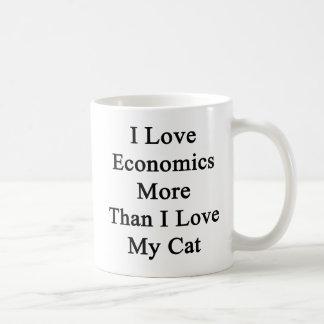 I Love Economics More Than I Love My Cat Coffee Mug