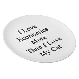 I Love Economics More Than I Love My Cat Dinner Plate