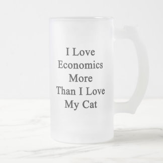 I Love Economics More Than I Love My Cat Frosted Glass Beer Mug
