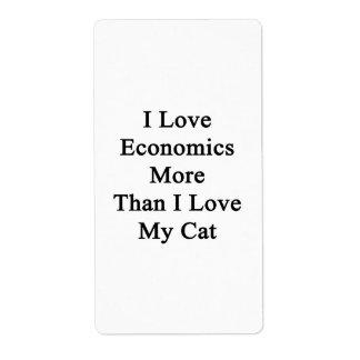 I Love Economics More Than I Love My Cat Label