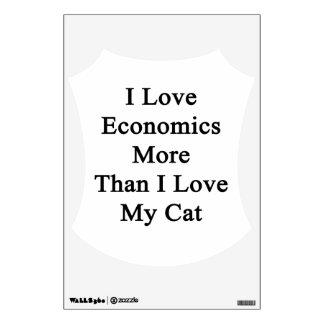I Love Economics More Than I Love My Cat Wall Sticker