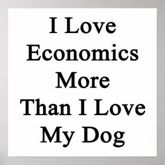 I Love Economics More Than I Love My Dog Poster