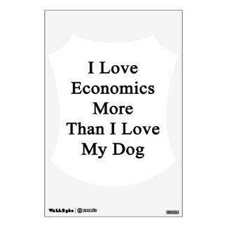I Love Economics More Than I Love My Dog Wall Sticker