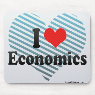 I Love Economics Mouse Pad