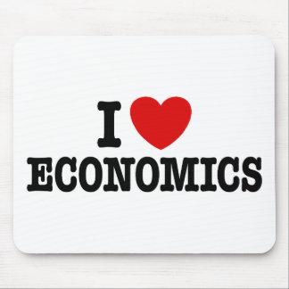 I Love Economics Mouse Pads