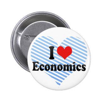 I Love Economics Pinback Buttons