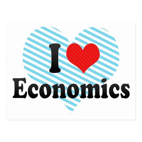 I Love Economics Postcard