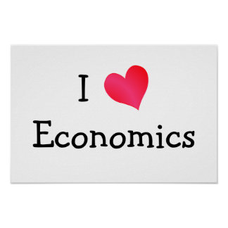 I Love Economics Poster
