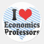 I Love Economics Professors Classic Round Sticker