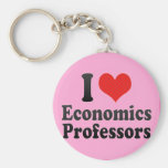 I Love Economics Professors Key Chain