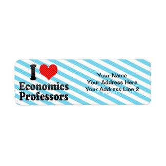 I Love Economics Professors Return Address Label