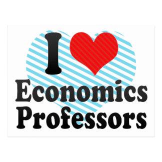I Love Economics Professors Post Card