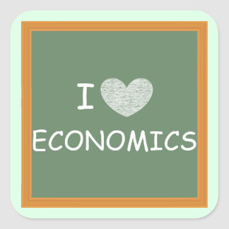 I Love Economics Square Sticker