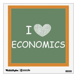 I Love Economics Wall Graphics