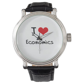 I love Economics Wrist Watch