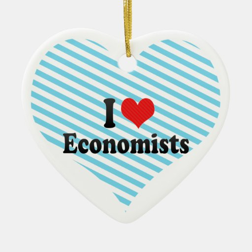 I Love Economists Christmas Ornament