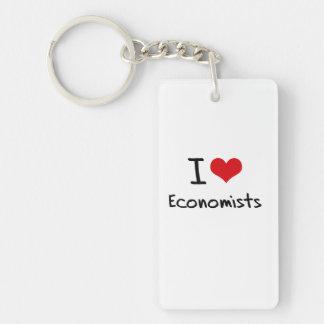 I love Economists Rectangle Acrylic Keychains