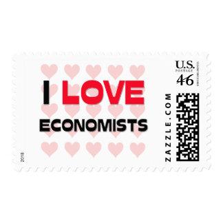 I LOVE ECONOMISTS POSTAGE STAMP