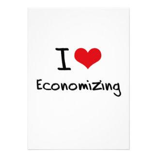 I love Economizing Personalized Invitation