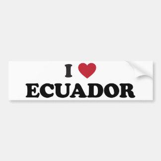 I Love Ecuador Car Bumper Sticker