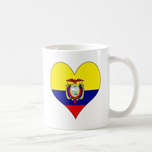 I Love Ecuador Classic White Coffee Mug