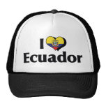 I Love Ecuador Flag Hat