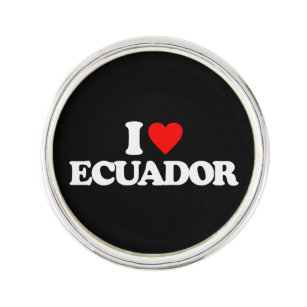 I LOVE ECUADOR LAPEL PIN