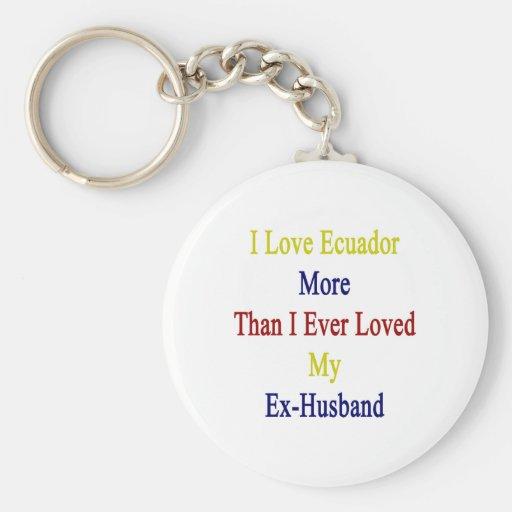 I Love Ecuador More Than I Ever Loved My Ex Husban Key Chains