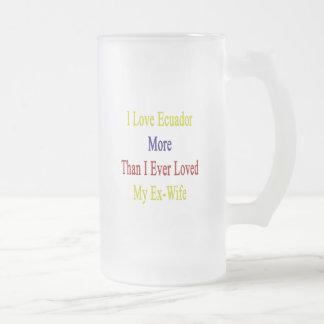 I Love Ecuador More Than I Ever Loved My Ex Wife Coffee Mug