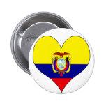 I Love Ecuador Pins
