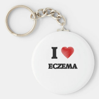 I love ECZEMA Basic Round Button Keychain