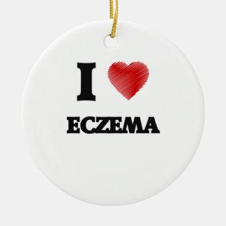 I love ECZEMA Ceramic Ornament